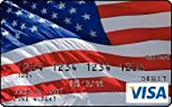 Visa Gift Card with American Flag image