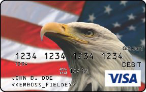 Visa Gift Card with Bald eagle image