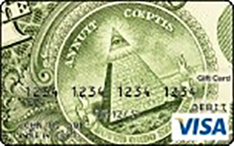 Visa Gift Card with Dollar Bill Image