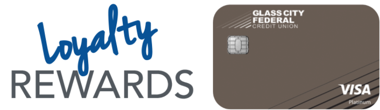 Loyalty Rewards Logo with Glass City Credit Card