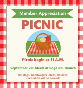 Member Appreciation Picnic Listing